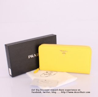 Prada IM0506 Yellow Wallet