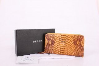 Prada PR0364 Yellow Wallet