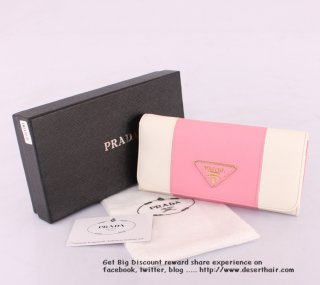 Prada 0506-1 Pink With White Wallet