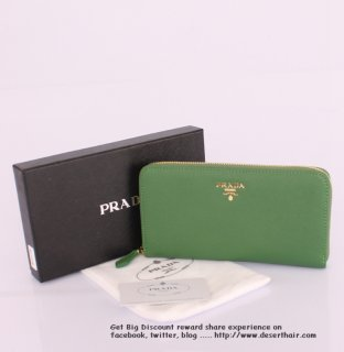 Prada IM0506 Green Wallet