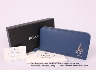 Prada 1189 Blue Wallet