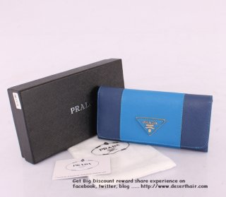 Prada 0506-1 Light Blue With Dark Blue Wallet