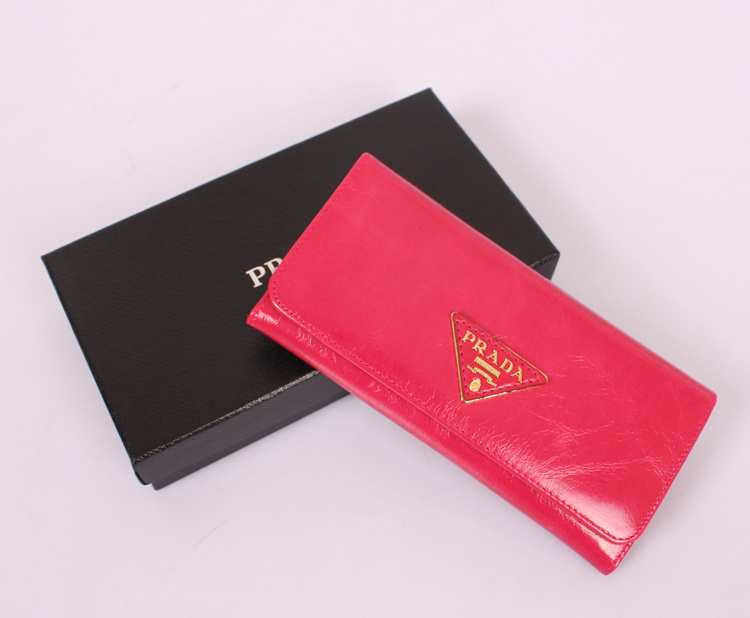 Prada P1-514 Rose Red Wallet